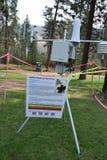 Máquina de la supervisión del humo del incendio fuera de control en Montana Imagenes de archivo