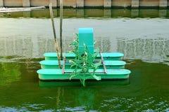 Máquina de la turbina de la oxigenación del agua para el problema del agua Foto de archivo