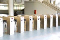 Máquina de la verificación del boleto de tren imagen de archivo libre de regalías