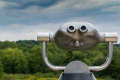 Máquina de la visión en la plataforma de observación de Metropark fotos de archivo