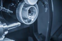 Máquina de las amoladoras de la herramienta del CNC para la herramienta de los molinos de extremo Fotos de archivo libres de regalías