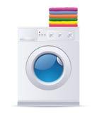 Máquina de lavar ilustração do vetor