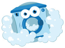 Máquina de lavar amigável Fotos de Stock Royalty Free