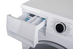 Máquina de lavar isolada em um fundo branco Imagem de Stock