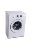 A máquina de lavar isolada no fundo branco foto de stock royalty free