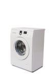 A máquina de lavar isolada no fundo branco imagens de stock royalty free