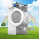 Máquina de lavar limpa Imagem de Stock