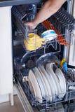 Máquina de lavar louça Foto de Stock