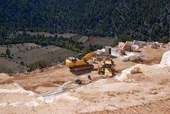 Máquina de mármol de la mina Fotos de archivo libres de regalías