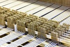 Máquina de matéria têxtil fotos de stock royalty free