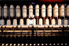 Máquina de materia textil vieja Fotografía de archivo libre de regalías