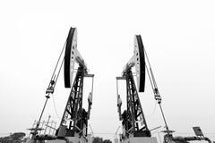 Máquina de mineração do petróleo fotografia de stock