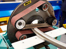 Máquina de moedura da tubulação fotografia de stock