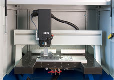 Máquina de molde da fábrica Imagem de Stock Royalty Free