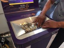 Máquina de monedas Imagen de archivo libre de regalías