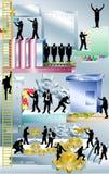 Máquina de negócio ilustração royalty free