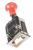 Máquina de numeração do vintage Fotografia de Stock