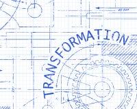 Máquina de papel cuadriculado de la transformación Imagen de archivo