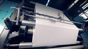 Máquina de papel de la producción 4K metrajes