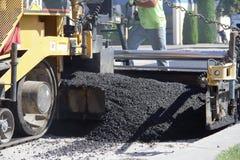 Máquina de pavimentação Fotos de Stock