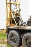 Máquina de perfuração - close-up de uma broca do óleo - perfuração de núcleo Fotos de Stock Royalty Free