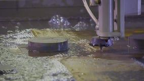 Máquina de perfuração do metallwork de Hydroabrasive video estoque