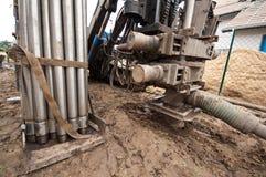 Máquina de perfuração Geothermal fotos de stock royalty free