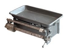 Máquina de peso velha Imagem de Stock