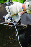 Máquina de pulir del metal Imagen de archivo