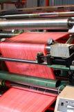 Máquina de revestimento plástico fotografia de stock