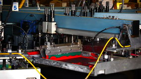 Máquina de seda automatizada industrial de la investigación almacen de metraje de vídeo