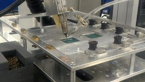 Máquina de solda do robô vídeos de arquivo