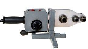 Máquina de soldadura para a soldadura das tubulações plásticas Imagem de Stock Royalty Free