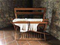Máquina de tecelagem antiga Fotos de Stock Royalty Free