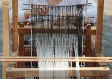 Máquina de tecelagem do Handloom Fotos de Stock