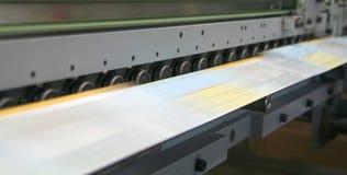 Máquina de trabajo de la impresión Fotos de archivo