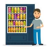 Máquina de venda automática com bebidas Imagens de Stock Royalty Free