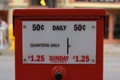 Máquina de venda automática do jornal Fotos de Stock