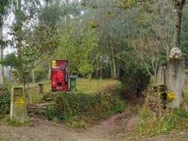 Máquina de venda automática fria das bebidas no Camino - o San Xil fotos de stock royalty free