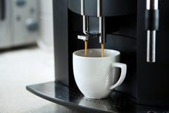 Máquina del café de Expresso Imagen de archivo
