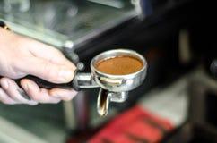 Máquina del café de la cabeza de grupo Foto de archivo