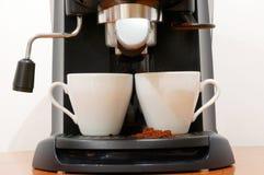 Máquina del café del café express Imágenes de archivo libres de regalías