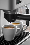 Máquina del café express Imágenes de archivo libres de regalías