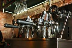 Máquina del café del café express de Ttraditional Fotografía de archivo