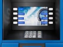 Máquina del cajero automático de la atmósfera Imágenes de archivo libres de regalías