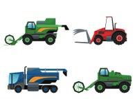 Máquina del camión y diseño de la forma de vida de la granja libre illustration