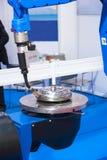 Máquina del CNC de la soldadura automática Imágenes de archivo libres de regalías