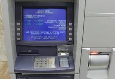 Máquina del dinero en circulación del intercambio Imagenes de archivo