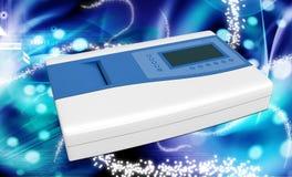Máquina del electrocardiógrafo con ECG libre illustration