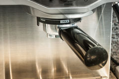 Máquina del fabricante de café Imagen de archivo libre de regalías